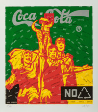 Wang Guangyi (b. 1957) Coca Cola (green) from The Great Criticism series, 2006 Lithograph