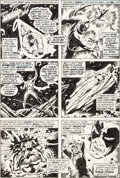 Original Comic Art:Panel Pages, Sal Buscema Avengers #90 Story Page 8 Captain MarvelOriginal Art (Marvel, 1971)....