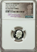 Proof Roosevelt Dimes, 2015-W 10C Silver, March of Dimes Set, Early Release, PR70 UltraCameo NGC. NGC Census: (0). PCGS Population: (1098).... (Total: 3item)