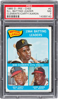 Baseball Cards:Singles (1960-1969), 1965 O-Pee-Chee Leaders - Clemente/Carty/Aaron #2 PSA NM 7. ...