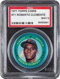 Baseball Cards:Singles (1970-Now), 1971 Topps Coins Roberto Clemente #71 PSA Mint 9 - None Higher....