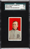 Baseball Cards:Singles (Pre-1930), 1909-11 T206 Old Mill Ty Cobb (Red Portrait) SGC 86 NM+ 7.5 - TheFinest SGC Example! ...