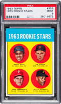 Baseball Cards:Singles (1960-1969), 1963 Topps Willie Stargell - 1963 Rookie Stars #553 PSA Mint 9. ...