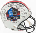 Football Collectibles:Helmets, Hall of Famers Multi-Signed Full Sized Authentic Helmet....