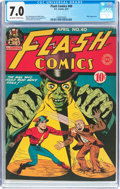 Golden Age (1938-1955):Superhero, Flash Comics #40 (DC, 1943) CGC FN/VF 7.0 Off-white to white pages....