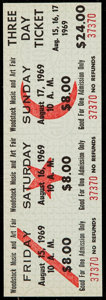 Miscellaneous Collectibles:General, 1969 Woodstock Music and Art Fair: Unused Three Day Ticket. ...