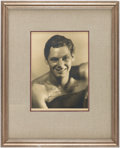 Books:Photography, Johnny Weissmuller Signed Photograph, Framed. Undated, circa 1930s....