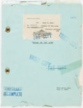 Books:Fiction, [Tarzan]. Original Dialogue and Continuity Script for Tarzan ofthe Apes. MGM, 1931....
