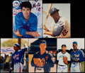 Baseball Collectibles:Photos, New York Mets Greats Signed Photographs Lot of 5....