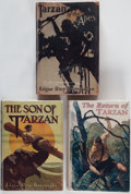 Books:Science Fiction & Fantasy, Edgar Rice Burroughs. Group of Three Tarzan Titles. Chicago:A. C. McClure & Co., 1914-1917. First editions.... (Total: 3Items)