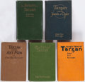Books:Science Fiction & Fantasy, Edgar Rice Burroughs. Group of Five Tarzan Titles. Chicago: A. C. McClurg, 1915-1924. Four first editions, one r... (Total: 5 Items)