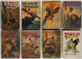 Books:Science Fiction & Fantasy, Edgar Rice Burroughs. Group of Eight Tarzan Titles. New York: Grosset & Dunlap, [circa 1940-1949]. Reprint editi... (Total: 8 Items)