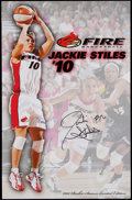 Basketball Collectibles:Photos, Jackie Stiles Signed Oversized Print. ...
