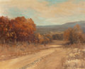 Fine Art - Painting, American:Contemporary   (1950 to present)  , Robert William Wood (American, 1889-1979). Boerne Hills,Texas, 1950. Oil on canvas. 25 x 30 inches (63.5 x 76.2 cm).Si...