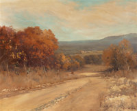 Robert William Wood (American, 1889-1979) Boerne Hills, Texas, 1950 Oil on canvas 25 x 30 inches
