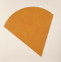 Prints, Ellsworth Kelly (1923-2015). Untitled (Orange), 1988. Lithograph in color on Arches 88 paper. 46-1/2 x 45-1/2 inches (11...