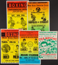 Boxing Collectibles:Memorabilia, 1970's-80's Boxing Posters Lot of 5....