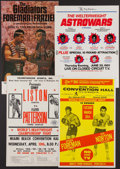 Boxing Collectibles:Memorabilia, 1960's-1970's Boxing Closed Circuit Fight Posters Lot of 4....