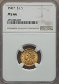 Liberty Quarter Eagles, 1907 $2 1/2 MS66 NGC....