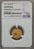1911-D $2 1/2 -- Improperly Cleaned -- NGC Details. AU....(PCGS# 7943)