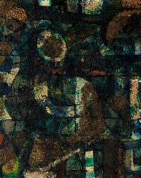 Ben L. Culwell (American, 1918-1992) Untitled, 1953-54 Mixed media on Masonite 29-1/2 x 24 inches