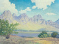 Fine Art - Painting, American:Modern  (1900 1949)  , Harris Shelton (American, 1896-1976). The Mountain Range.Oil on canvas. 30 x 40 inches (76.2 x 101.6 cm). Signed lower ...