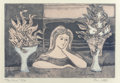 Prints, Bror Utter (American, 1913-1993). Two Vases. Etching with colors. 5 x 7-1/2 inches (12.7 x 19.1 cm) (image). Ed. 5/30. S...