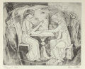 Fine Art - Work on Paper:Print, Bror Utter (American, 1913-1993). Palmest. Etching. 6 x 7-1/4 inches (15.2 x 18.4 cm) (image). Ed. 9/30. Signed, titled,...
