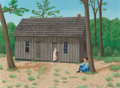 Fine Art - Painting, American:Contemporary   (1950 to present)  , Velox Benjamin Ward (American, 1901-1994). No Grass Grown UnderMy Feet, 1967. Oil on Masonite. 12 x 16 inches (30.5 x 4...