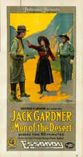 "Movie Posters:Western, Men of the Desert (Essanay, 1917). Three Sheet (42"" X 82"").. ..."