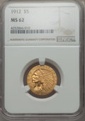1912 $5 MS62 NGC. NGC Census: (3780/1541). PCGS Population: (2793/1937). CDN: $510 Whsle. Bid for problem-free NGC/PCGS...