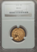 1915 $5 MS61 NGC. NGC Census: (1667/3028). PCGS Population: (613/2877). Mintage 588,075. From The Twelve Oaks Collec...(...