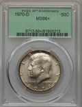 Kennedy Half Dollars, 1970-D 50C MS66+ PCGS. PCGS Population: (527/14 and 16/0+). NGCCensus: (138/7 and 0/0+). Mintage 2,150,000. ...