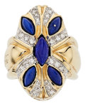 Estate Jewelry:Rings, Lapis Lazuli, Diamond, Gold Ring, Erté. . ...