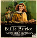 """Movie Posters:Comedy, Let's Get a Divorce (Paramount, 1918). Six Sheet (82"""" X 80"""").. ..."""