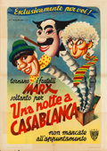 "Movie Posters:Comedy, A Night in Casablanca (Union, 1950). First Post-War Release Italian2 - Fogli (39"" X 55""). Comedy.. ..."