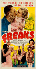 "Movie Posters:Horror, Freaks (Excelsior, R-1949). Three Sheet (41"" X 81"").. ..."