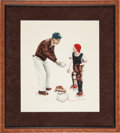"Baseball Collectibles:Others, 1962 ""Big Decision"" Print Signed by Norman Rockwell from TheGary Carter Collection...."