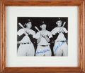 Baseball Collectibles:Photos, 1990's Mickey Mantle & Ted Williams Signed Photograph from TheGary Carter Collection....