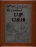 "Baseball Collectibles:Others, 1985 Gary Carter ""Met of the Month"" Award from The GaryCarter Collection...."
