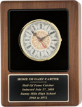 Baseball Collectibles:Others, 2003 Gary Carter Sunny Hills High School Presentation Clock fromThe Gary Carter Collection. ...
