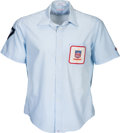 Baseball Collectibles:Others, 1980's Paul Runge Game Worn Umpire's Shirt from The Gary CarterCollection....