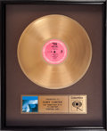 "Baseball Collectibles:Others, 1986 Billy Joel Gold LP Record for ""The Bridge"" Presented toGary Carter from The Gary Carter Collection...."
