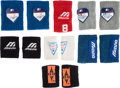 Baseball Collectibles:Uniforms, 1985-92 Gary Carter Game Worn Sweatbands Lot of 13 from The Gary Carter Collection....