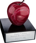 Baseball Collectibles:Others, 2001 Gary Carter New York Mets Hall of Fame Big Apple Award from The Gary Carter Collection. ...