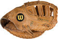 Baseball Collectibles:Others, Circa 1984 Gary Carter Game Worn First Baseman's Glove from The Gary Carter Collection....