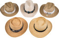 Baseball Collectibles:Hats, Straw Golf Hats Lot of 7 from The Gary Carter Collection....