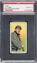 Baseball Cards:Singles (Pre-1930), 1909-11 T206 Piedmont Ty Cobb (Bat On Shoulder) PSA VG-EX 4. ...