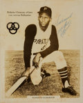 Baseball Collectibles:Photos, 1960's Roberto Clemente Signed Photograph....