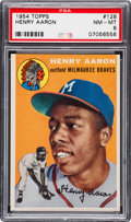 Baseball Cards:Singles (1950-1959), 1954 Topps Hank Aaron #128 PSA NM-MT 8....
